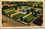 Vintage 1930and039s City Hall Garden In Hammond Indiana In Postcard
