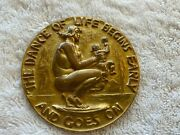 Society Medalists Medallic Bronze Art 17th Issue Near Mint 1938 Dance Of Life