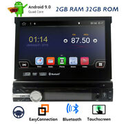 Single 1 Din 7 Android Car Gps Stereo Radio Dvd Cd Player Full Rca Touch Screen