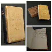 Heart Shield Bible Gold Plated Steel Cover New Testament Inscription Wwii 1944