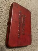 Vintage Snap On Tools Red Metal Socket Wrench Box With Tools
