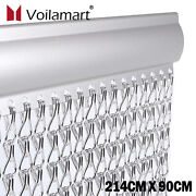 Aluminum Door Curtain Metal Chain Fly Insect Blinds Screen Pest Control 21490cm