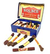Antique Advertising - Set Of Vintage Shop Display Solace Shoe Laces In Box