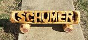 3 Foot Chainsaw Carved Name Log Sign Personalized Name Log Yard Sign
