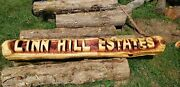 5 Ft Long Chainsaw Carving Name Log. 2 Base Logs Included Free Yard Sign. Cha