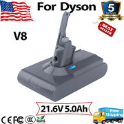 V8 For Dyson 21.6v 5.0ah Battery Animal Absolute Fluffy Handheld Vacuum Cleaners