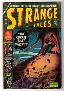 Marvel Strange Tales G+ 22 Corpse That Wasn't 2.5 Kirby Ditko Golden Age