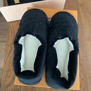 Louis Vuitton Room Shoes Black Size 8 With Box Slipper Relax Comfort Used