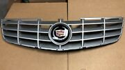 06-11 Cadillac Dts Front Grill Grille With Emblem/logo Badge And Chrome Trim Ring