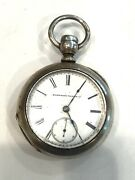 Elgin National Watch Co Coin Silver Pocket Watch J6187 Non Working