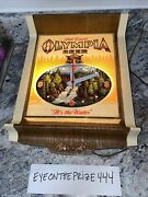 Vintage 70's Olympia Beer Sign Clock Advertisement 12x14 Works 7806