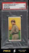 1909-11 T206 Roger Bresnahan With Bat, American Beauty 350/25 Psa 5 Ex Pwcc-a