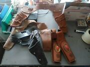Vintage Toy Cap Gun Holsters Sold For Parts
