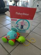 New 2013 Fisher Price Pull-along Turtle Infant Toddler Toy