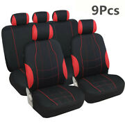 5-seats Full Set Seat Covers Polyester Fabric Breathable Car-styling Decoration