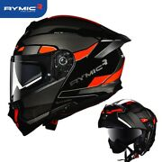 New Rymic-r Modular Flip Up Motorcycle Safety Full Face Helmet Video Included