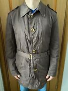 Hugo Boss Hunch Brown Trench Coat Jacket Size- Uk56 Us46r Large / Xl