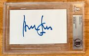 Harrison Ford Signed Autographed 3x5 Card Bas Beckett Slabbed Letter Star Wars