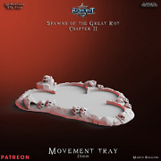 Movement Tray - Terrain - Flesh Eating Proxy Death Ghoul Crypt Flayer Vampire
