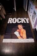 Rocky Sylvester Stallone 4x6 Ft Vintage French Grande Movie Poster 1977 Used
