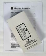 Ronco Showtime Rotisserie Bbq 4000/5000 Replacement Part Vhs Manual W/recipes