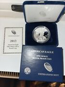 2013-w Usa American Eagle Proof One Ounce .999 Silver Dollar Coin