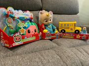 New Cocomelon Jj Doll Bus And Musical Dr. Kit Fast Ship In Hand