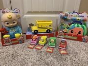 New Cocomelon Toy Set - Jj 10 Doll School Bus Musical Doctor Box And 4 Cars