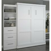Atlin Designs 90 Queen Wall Bed In White
