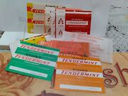 Rare Vtg 11 Different Chewing Gum Wrappers Clark's