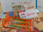 Rare Vtg Hollandian 9 Chewing/bubble Gum Wrappers Ml Maple Leaf