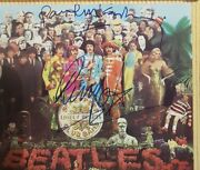 Beatles Sgt.pepper Cd Booklet Signed By Paul Mccartney And Ringo Starr Autograph
