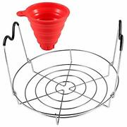 Picowe 12inch 2 Pack Canning Rack And Canning Funnel Stainless Steel Steamer ...
