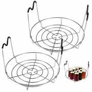 Picowe 12inch 2 Pack Canning Rack Stainless Steel Steamer Canning Jar Rack Wi...