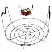 Picowe 12inch Canning Rack Stainless Steel Steamer Canning Jar Rack With Sili...