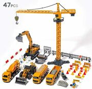 Construction Vehicles Boys Toy Playsets Crane Truck Excavator 2day Delivery