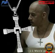 Necklace Pendant Cross Dominic Toretto Vin Diesel Fast And Furious 8