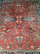 Antique Heriz Rug Carpet 236 Cm 7and0399 X 305 10and039