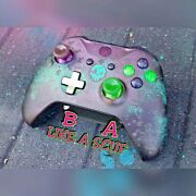 💜xbox One S Controller Custom Sea Of Thieves Added Paddles Glow Banda Like A Scuf