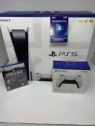 Brand New Ps5 Sony Playstation 5 Disc Console Bundle Fast Free 2-day Shipping