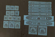 R2/11 Us Revenue Stamp Snuff 1955 Series 125 1/2oz-2ps -set Of 22 Mnhng Great