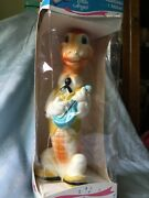 Vintage Alan Jay Rubber Squeak Toy 9andrdquo Alligator Playing Banjo 2201 Nos In Box