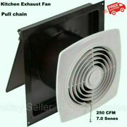 8 Kitchen Exhaust Fan Wall Mounted Pull Chain White Wall Ventilation Workshop