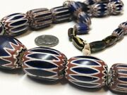 Vintage Chevron 6 Layer Trade Beads African Trade Beads Necklace Strand