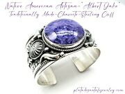 Albert Jake-traditionally Made-vintage Revival-heavy 12 Gauge-charoite 925 Cuff