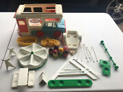 Weebles Vintage Lot Camp-about Romper Room Camper Playground 1972 Hasbro