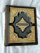 Large Antique 1873-1881 Holy Bible Excellent 140 Year Old Condition Nice