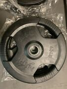 New 2x 45lb Xmark Olympic Rubber Weight Plates