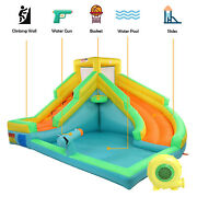 Inflatable Water Slide Bounce House Castle Water Pool Long Slide With 480 Blower