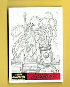 Mars Attacks The Revenge 2017--squid Grabs Lady Liberty--artist Signed D 1/10